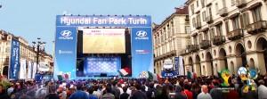 Hyundai fan park Torino